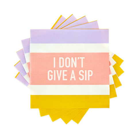 I don't give a sip cocktail napkins available at Uncommon Party Co.