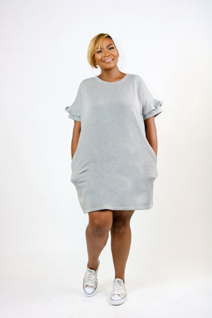 Plus Size Solid, short dress