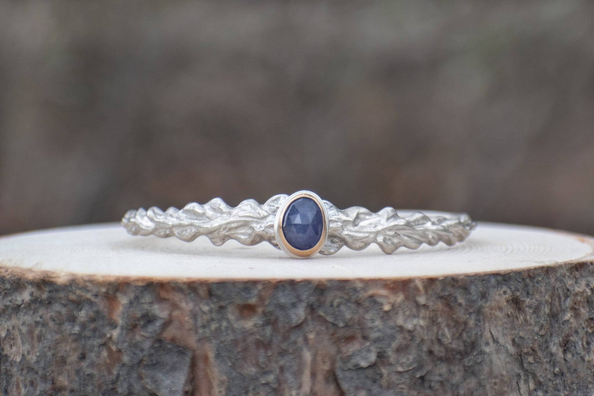 Narrow Lupine Cuff with Tanzanite