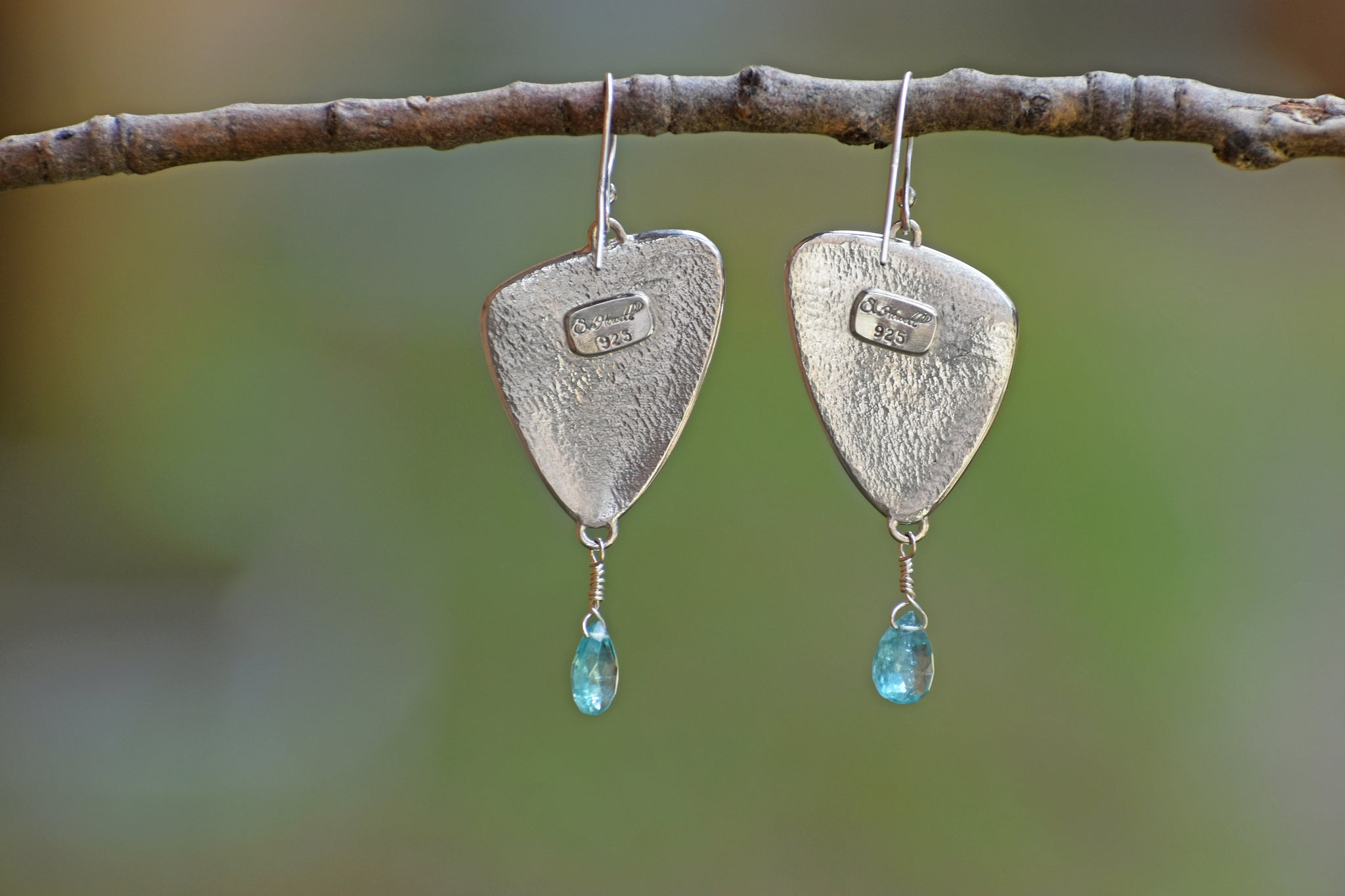 Large Leaf Earrings with Edging