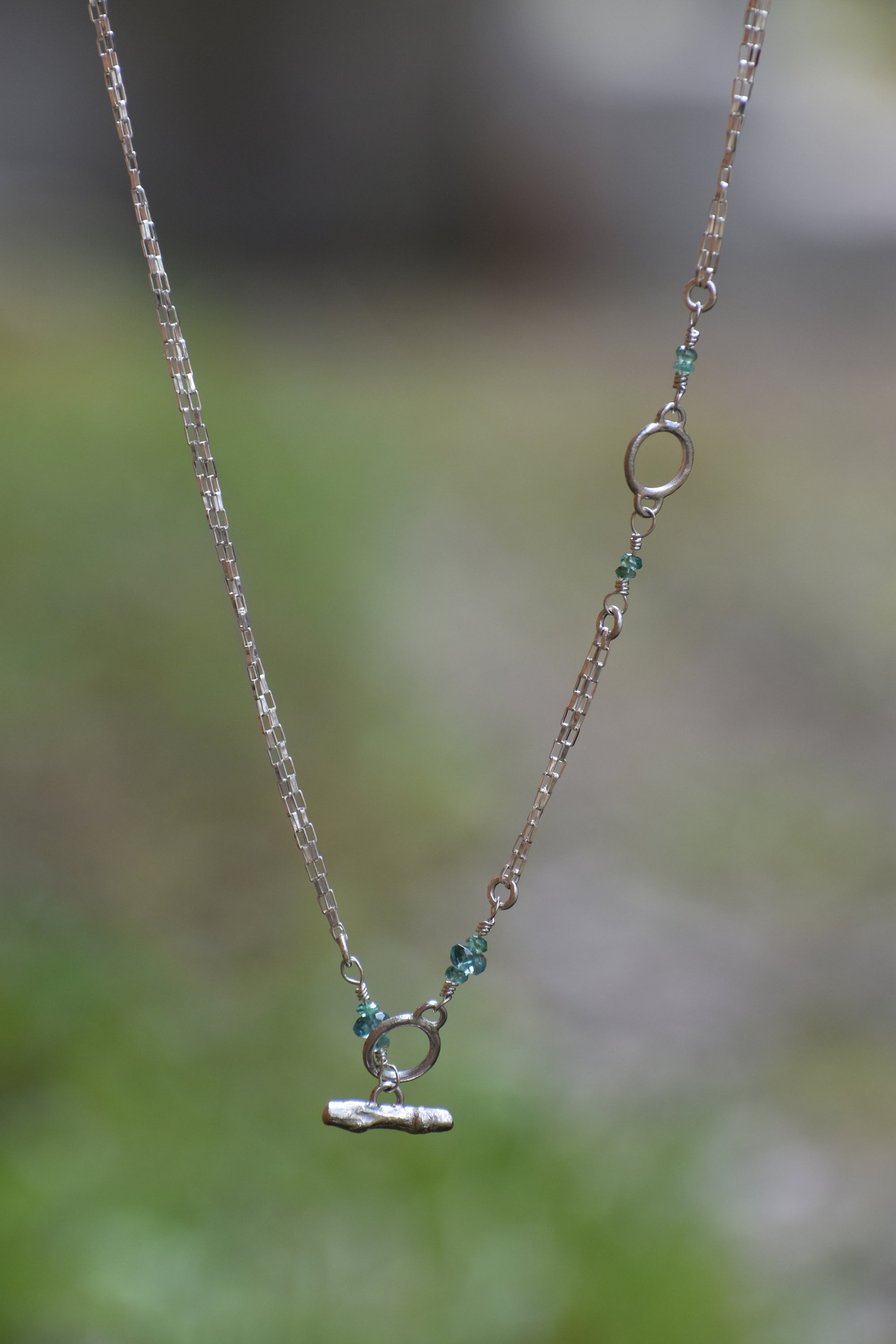 Leaf & Water Droplet Necklace