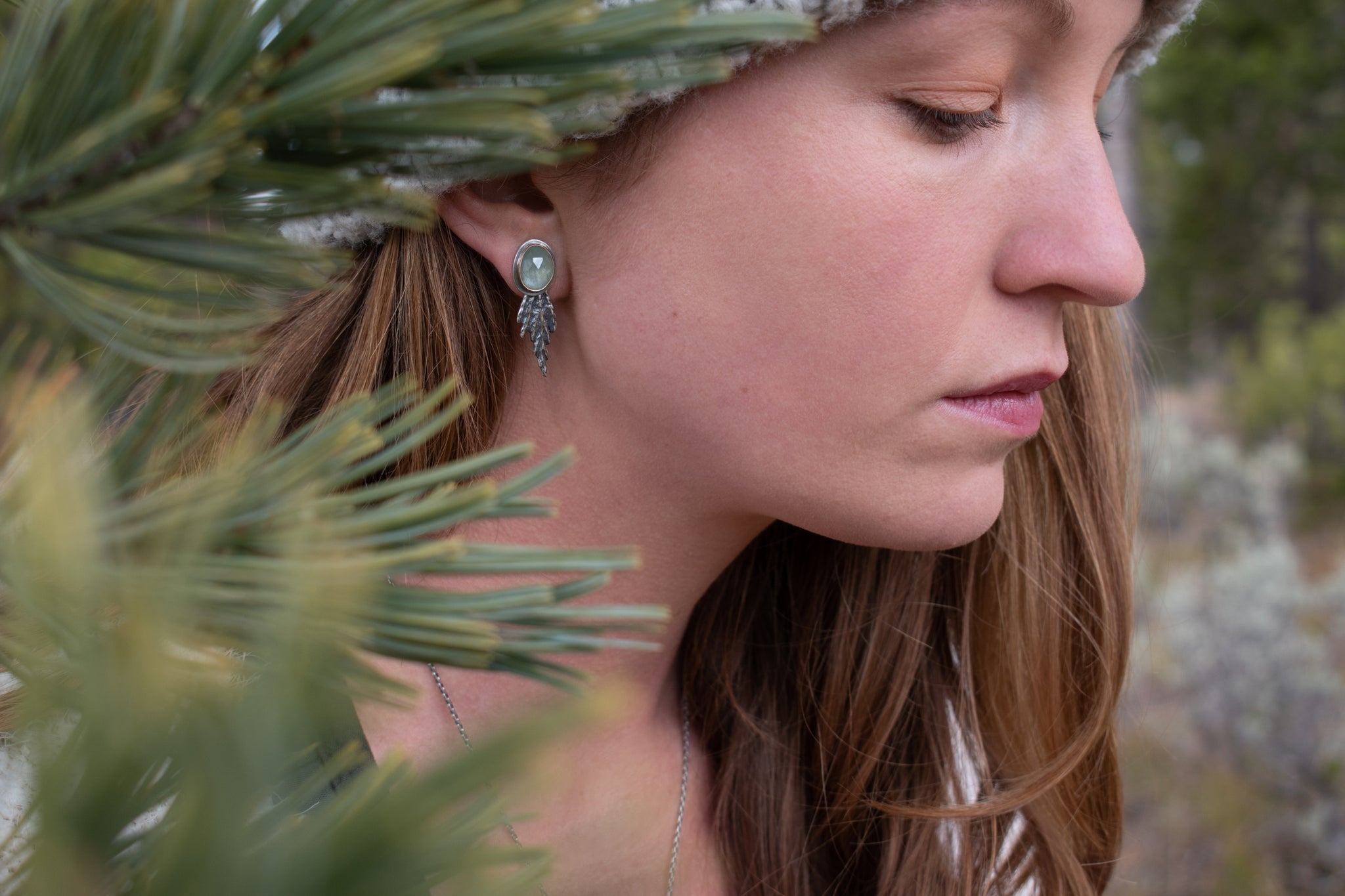 Cedar Ear Jackets with Green Sapphire