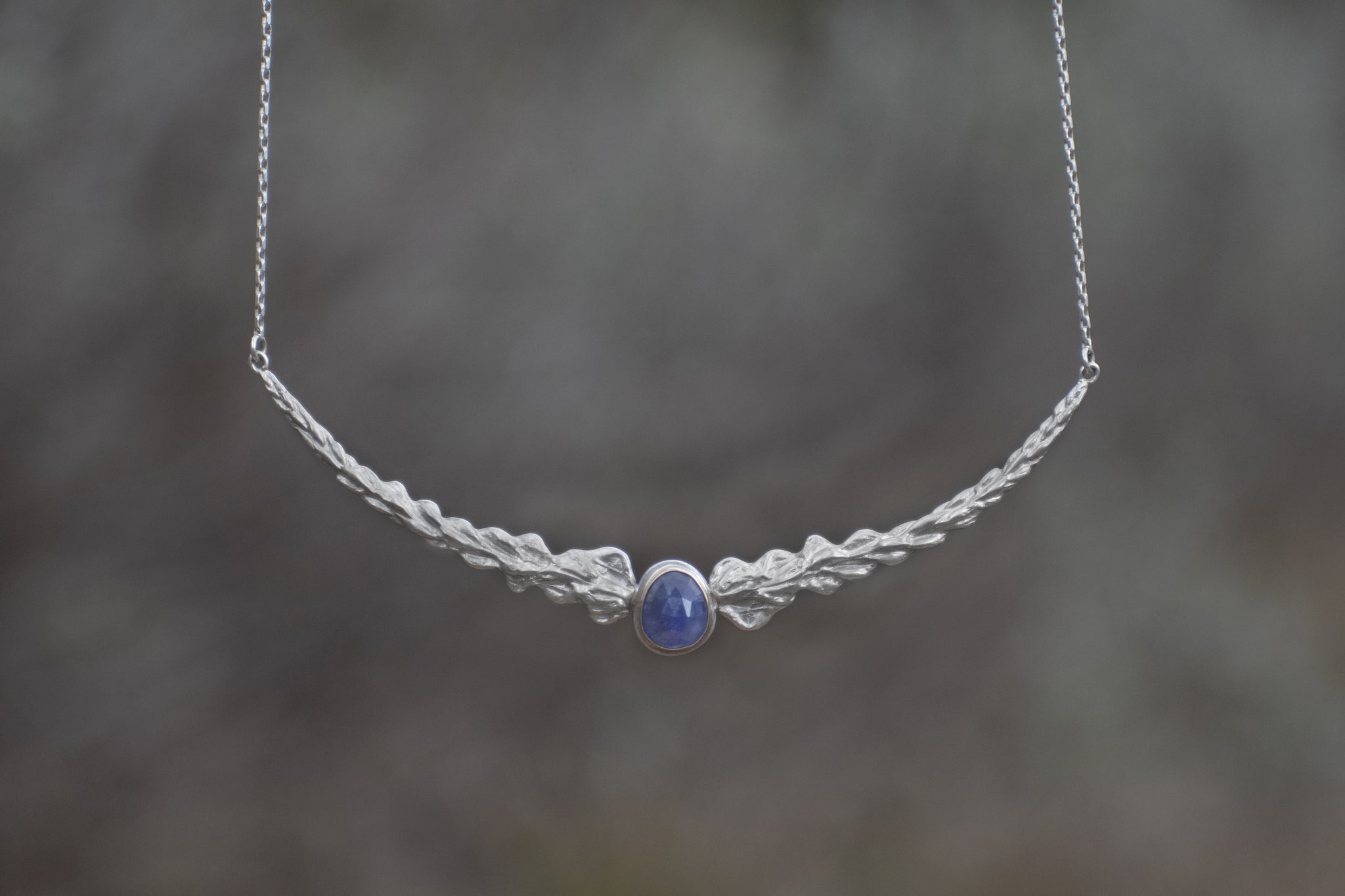 Lupine Statement Necklace with Tanzanite