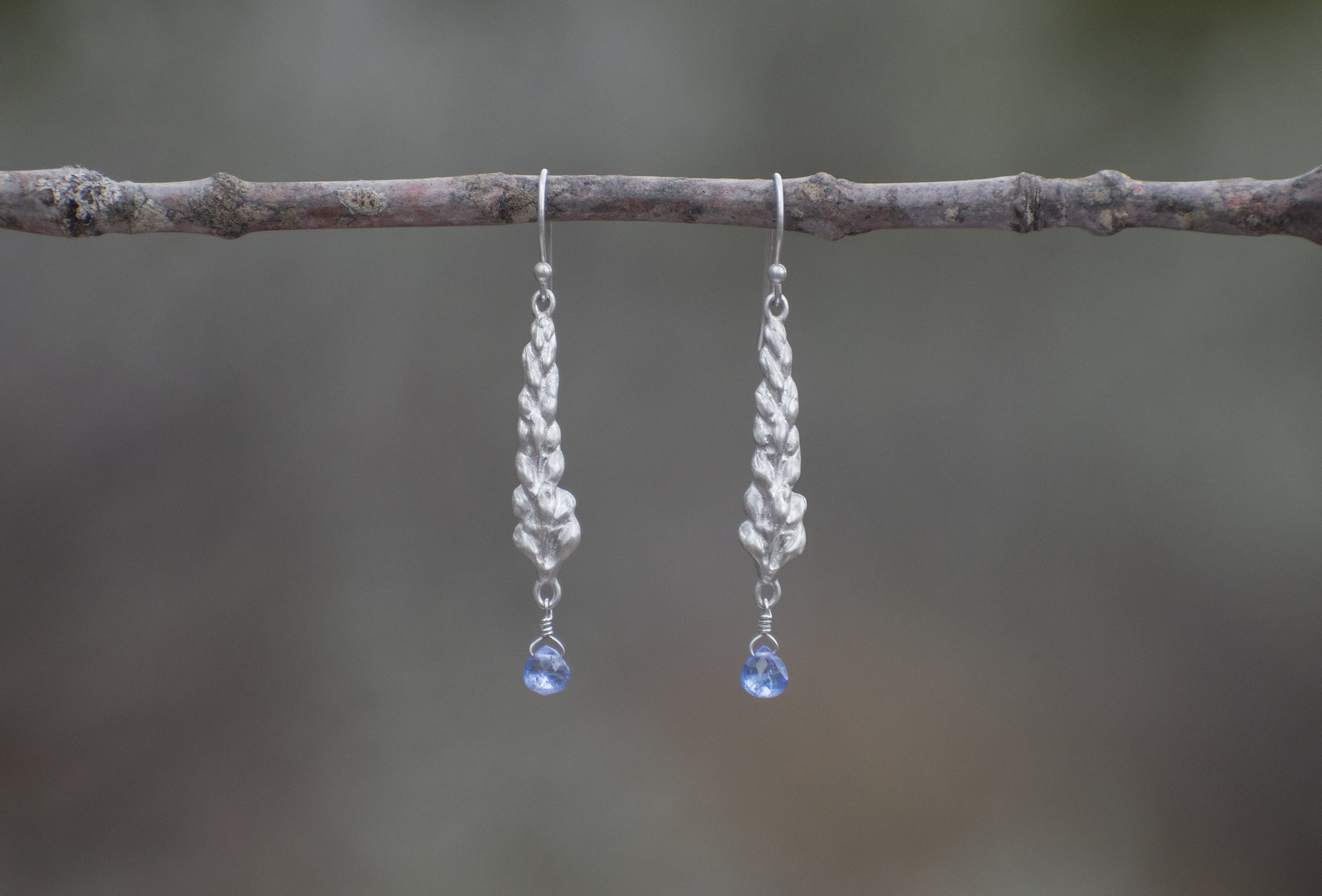 Lupine Dangle Earrings with Tanzanite