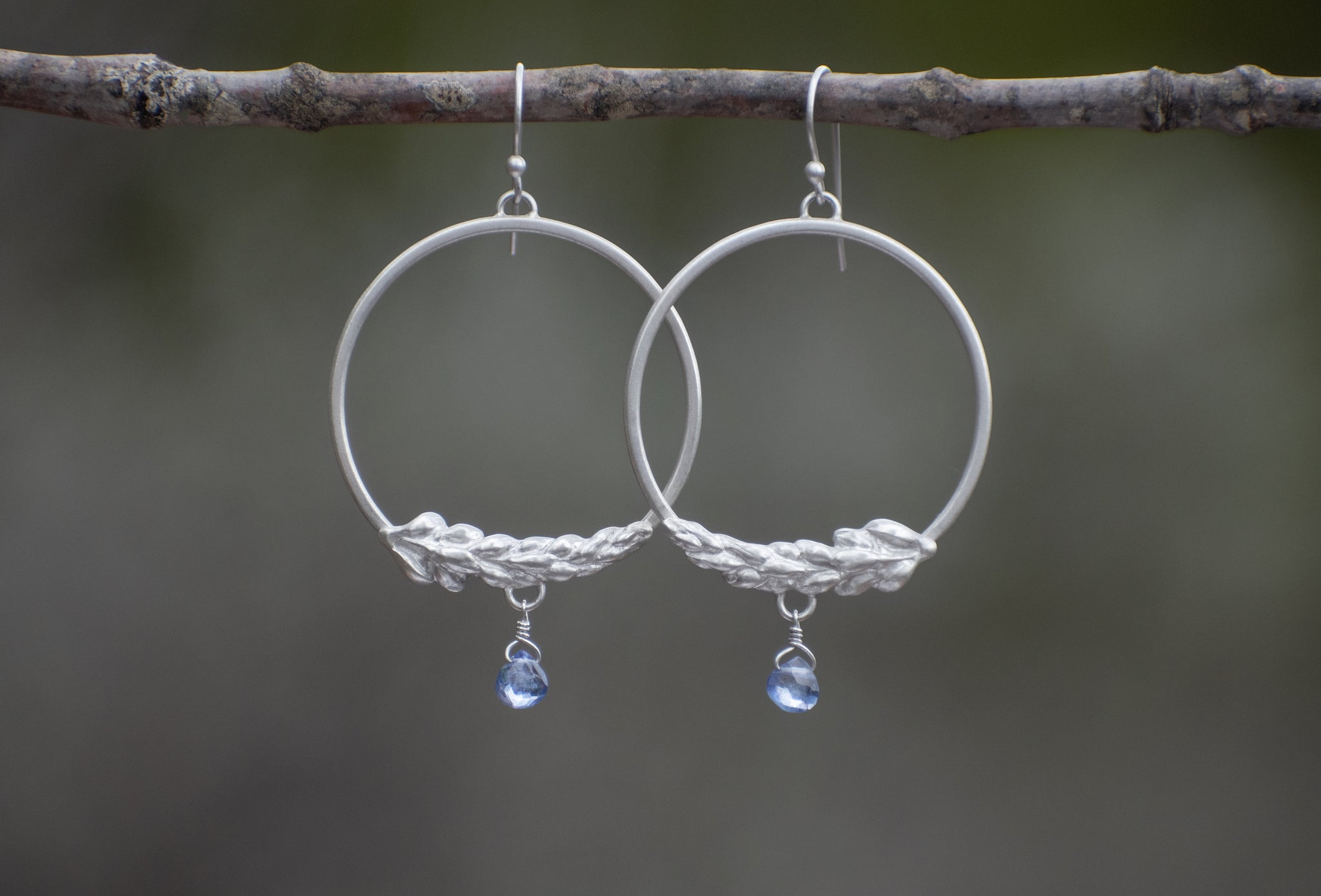 Lupine Hoops with Tanzanite