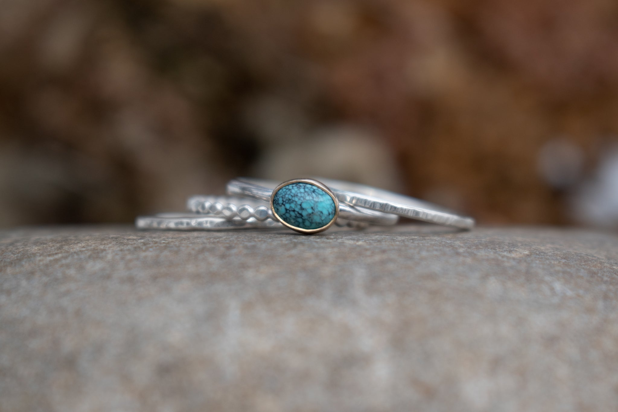 Hammered Stacking Ring (Single Ring)