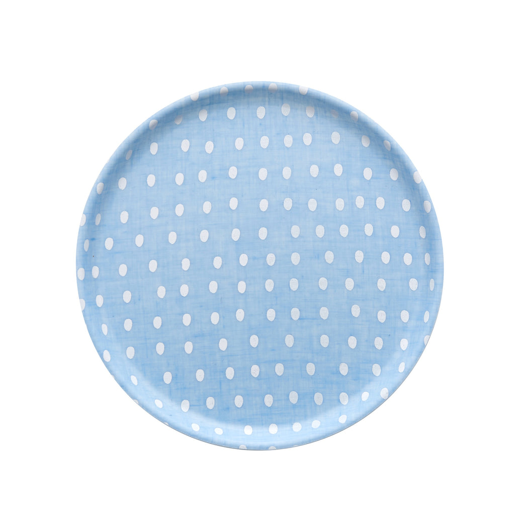 Linen Tray Egg Blue