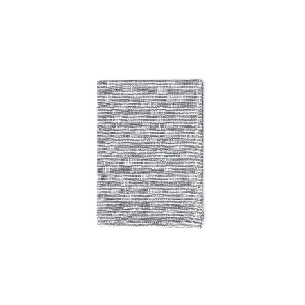 Kitchen Towel Grey Thin White Stripe