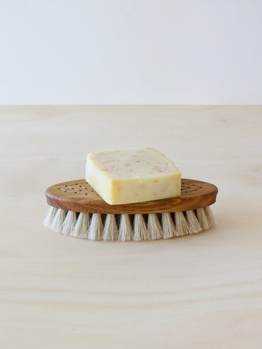 Lemongrass and oat bran soap