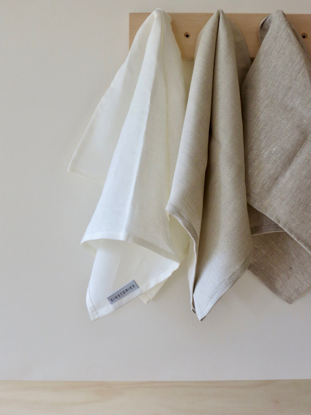 Belgian cotton/linen tea towel, Oatmeal
