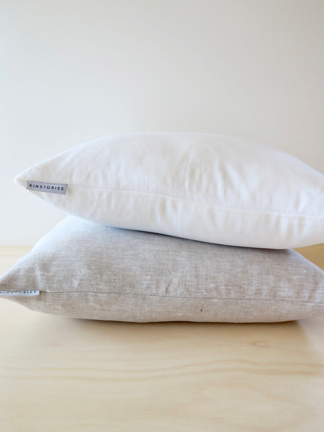 Belgian cotton/linen cushion cover, Oyster