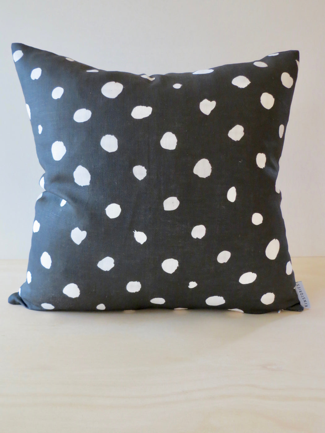 Cosy linen cushion cover, Charcoal