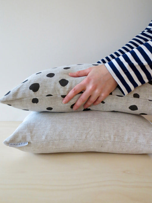 Cosy linen cushion cover, Flax
