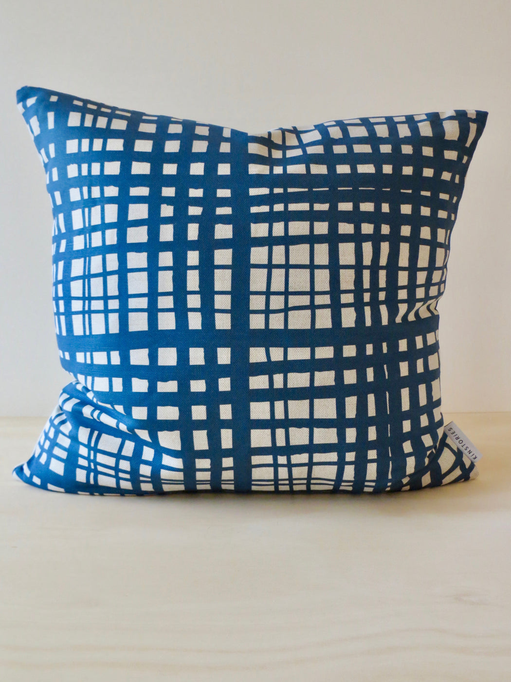 Clan linen cushion cover, Scandi blue