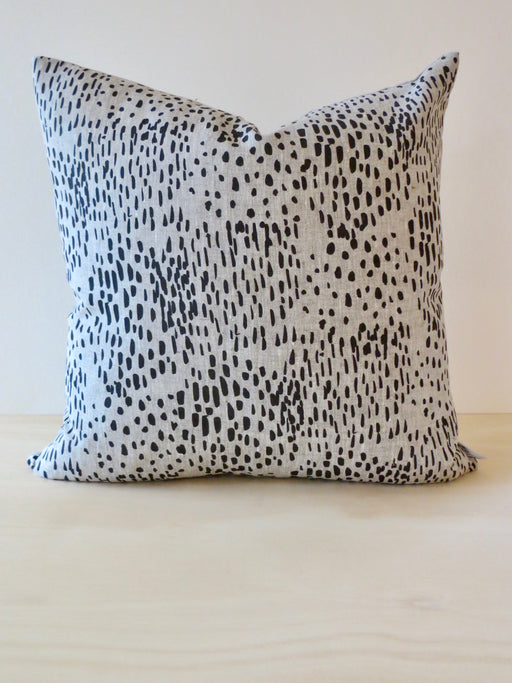 Pollen linen cushion cover, Charcoal