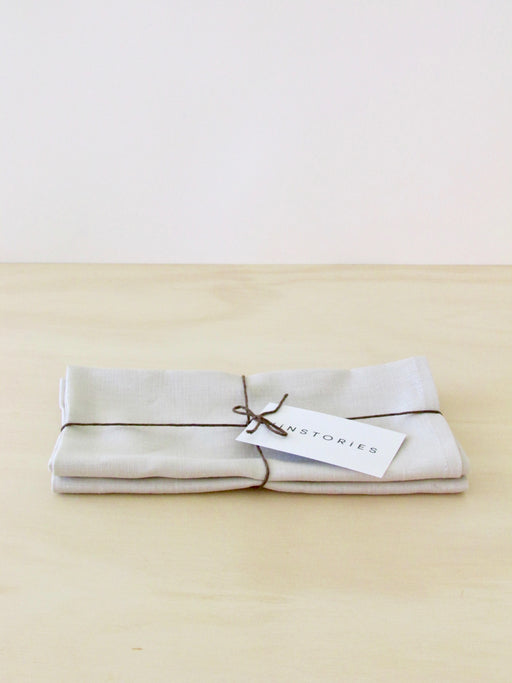 Pure linen napkins, Shell (set of 2)