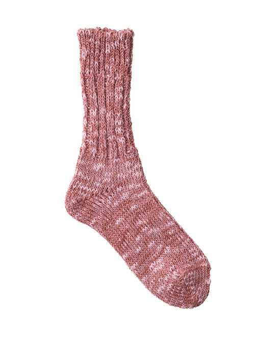 Linen Cotton Mix Socks Pink