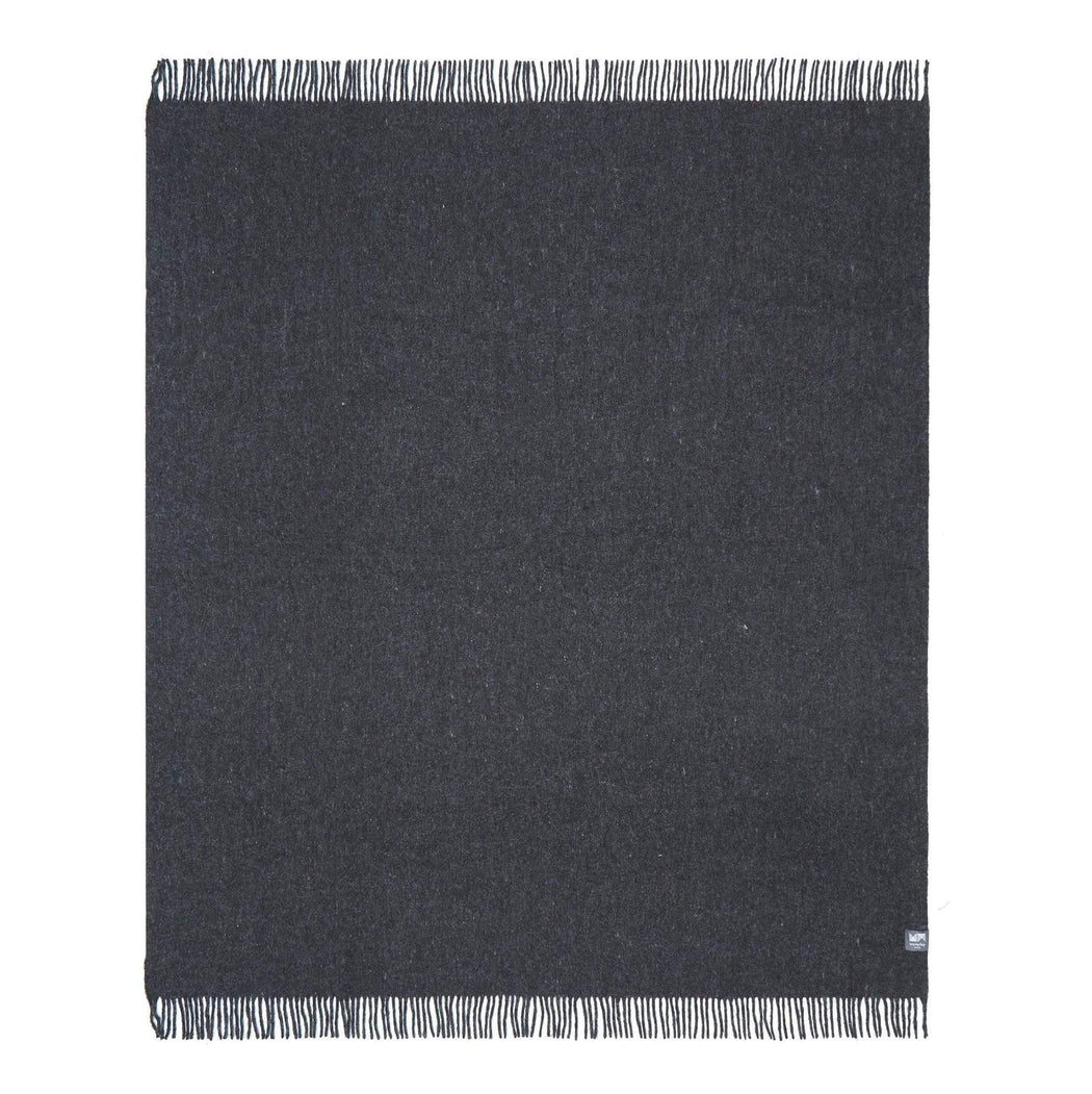 Recycled Wool Throw, Forge Grey