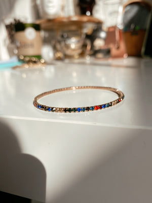 DARK MULTICOLOR TENNIS BRACELET