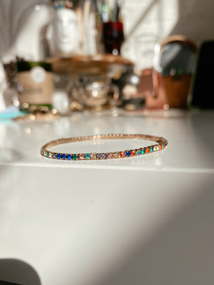 LIGHT MULTICOLOR TENNIS BRACELET
