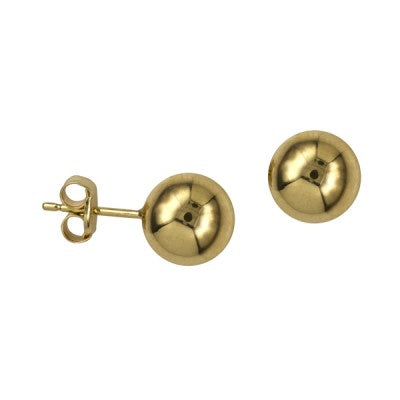 9ct Yellow Gold Ball Studs 8mm