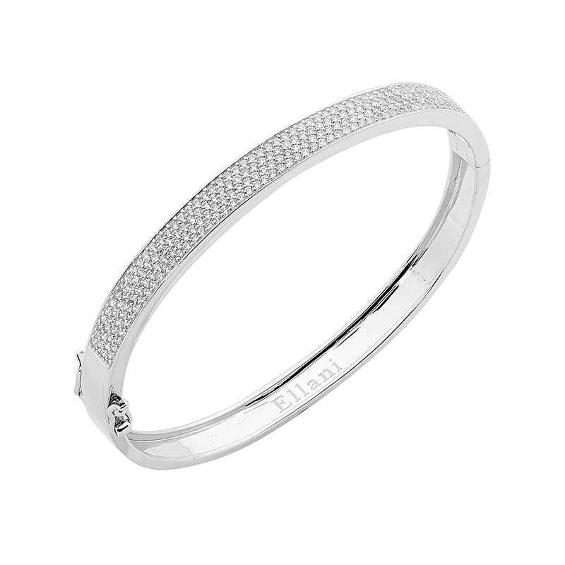 Sterling Silver Ellani Bangle B215