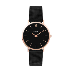 Minuit Black Mesh Rose Gold
