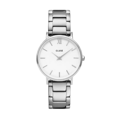 Minuit Link Silver White Face