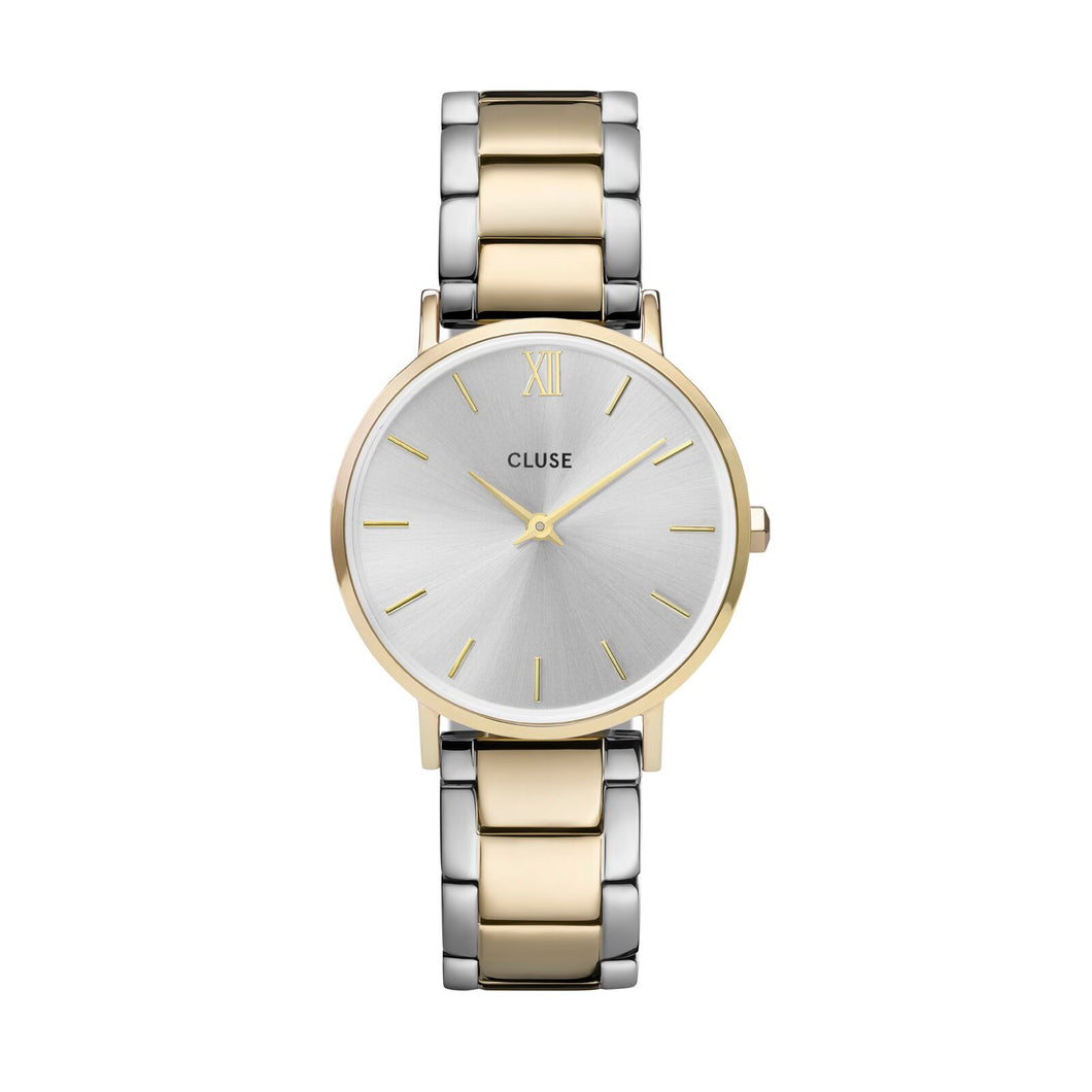 Minuit Link Two Tone Silver Face