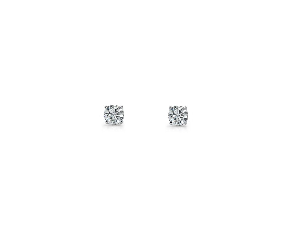 Sterling Silver CZ Stud 3mm