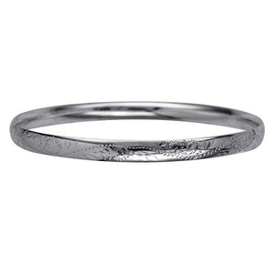 Sterling Silver Engraved Bangle