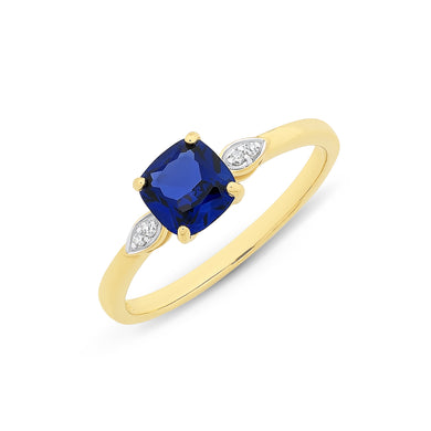 Created Sapphire Ring