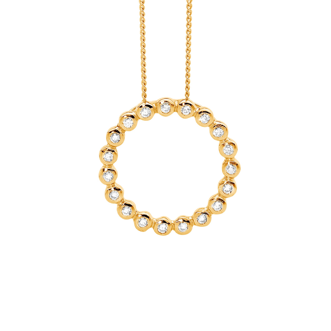 Gold Plated Circle Pendant