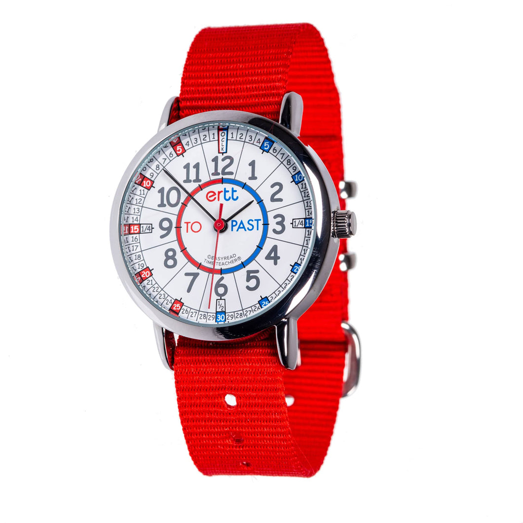 Red Strap Blue Red Dial