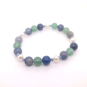 Blue & Green Adventurine & Pearl