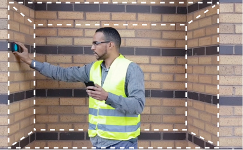 Workman measuring using Moasure ONE