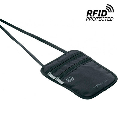 Pouch Pasaporte Bloqueo RFID Negro