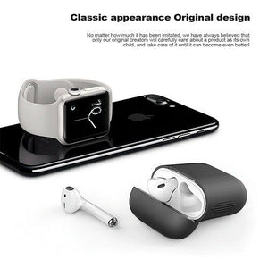 Apple Airpods Case Cover Soft Silicone Black