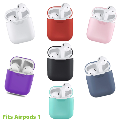 Apple Airpods 1 Case Cover Soft Silicone 6 Colours
