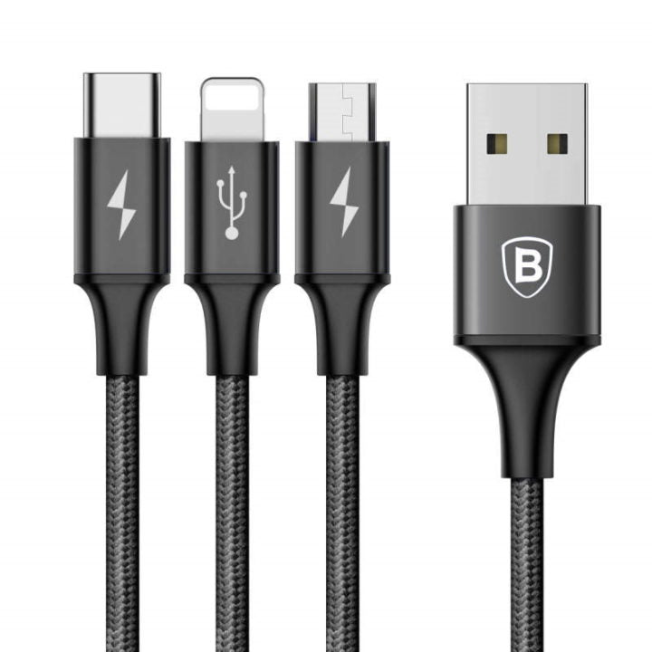Baseus Rapid Series 3 in1 Cable Black