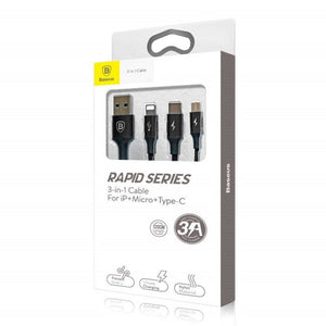 Baseus Rapid Series 3 in 1 Cable Packaging