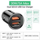 Baseus Quick Charge 4.0 3.0 Dual USB Car Charger Port View