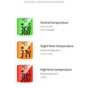 Non Contact Thermometer Temperature Warnings