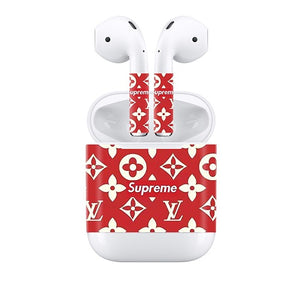 Apple Airpods Stickers Supreme Decals Stickers LV Small Logo
