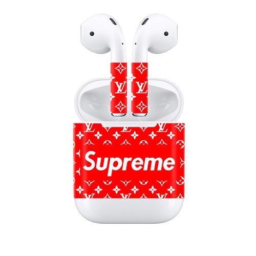 Apple Airpods Stickers Supreme Decals Stickers LV Red Box