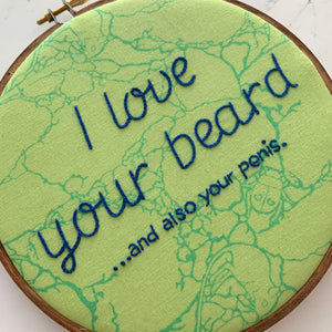 I love your beard...