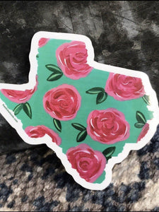 Texas Rose Sticker