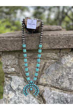 Load image into Gallery viewer, Stacked Stone Squash Blossom Necklace