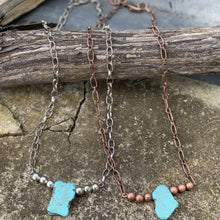 Load image into Gallery viewer, Turquoise Slab Necklace