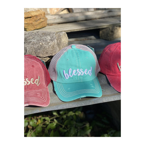 Distressed Blessed Hat